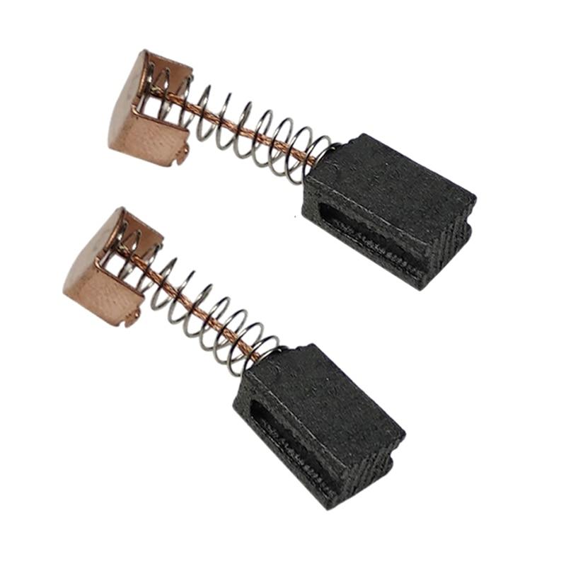 10 paia di spazzole di carbone 5x8x12mm per motori elettrici Smerigliatrice angolare nera Decker G720
