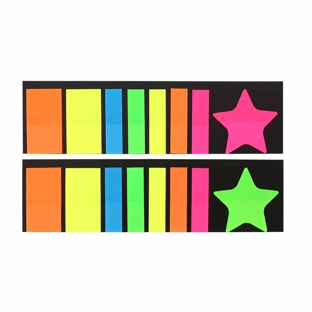 ملاحظات لاصقة صغيرة ملونة علامات الصفحة أشكال مختلفة علامة التبويب المرجعية أعلام مذكرة كتاب ماركر ملاحظات لاصقة مكتب القرطاسية