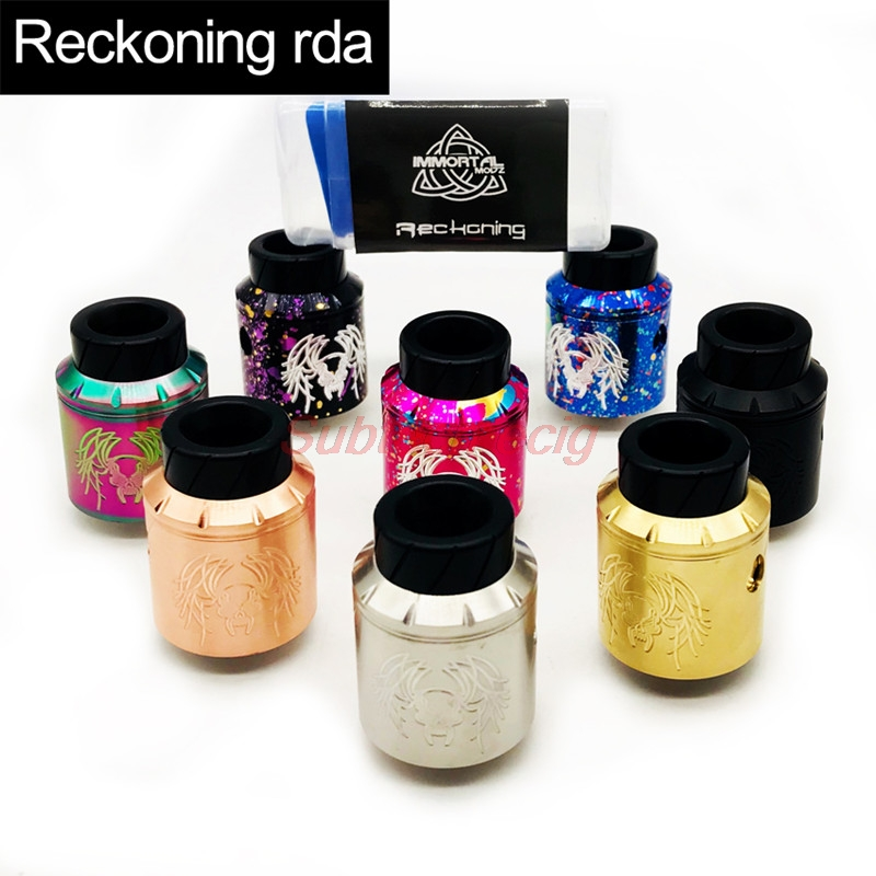 Newest Reckoning RDA Colorful Replaceable Atomizers Fully Adjustable AFC Three Post Build Deck 304 Stainless Steel Construction