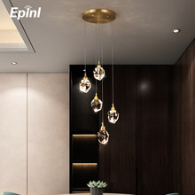 Epinl Luxury Diamond Crystal Copper Chandelier Light Dining Room Bedroom Living Restaurant Lamp Hotel Villa Christmas Home Decor
