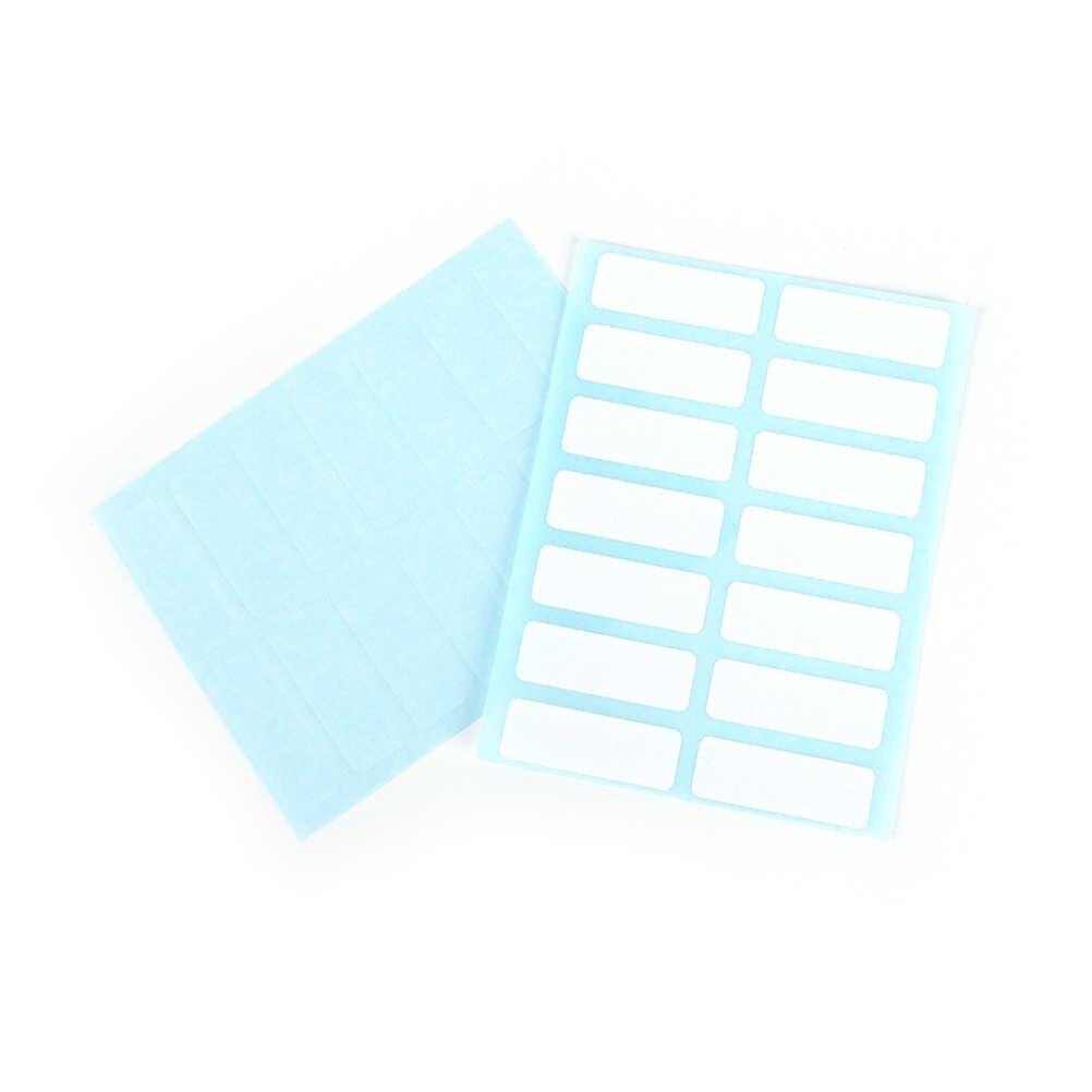 12 แผ่น/แพ็ค 3.8 ซม.x 1.3 ซม.Self Adhesive Sticky ว่างเปล่าป้ายสีขาวป้ายเขียนชื่อสติกเกอร์เปล่า