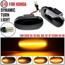 Indicador lateral dinámico Led, luz intermitente secuencial para HONDA Prelude CRX S2000 Integra Fit Del Sol Acura Civic, 1 par