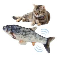 Cat Toys Electric Catnip Fish Cat Wagging Fish Realistic Plush Simulation Fish Realistic Pet Cat Chewing Catnip Toys Pet Product