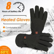 Heated Gloves Waterproof Nonslip 7.4V Electric Gloves with 3