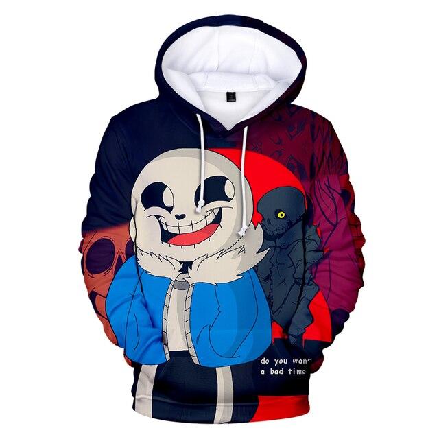 Hot Game Undertale Hoodies Men women Casual Clothes Harajuku 3D Print New Hip Hop Undertale Men s Hoodies Pus Size Pullover