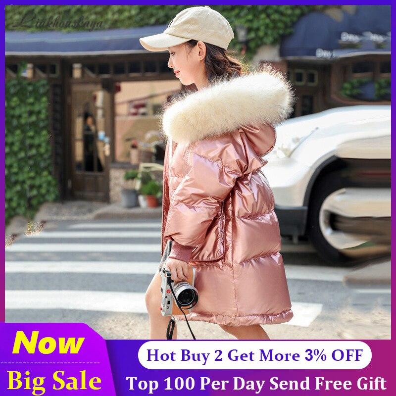 -30 русские зимние пальто 2020 детские куртки водонепроницаемый пуховик с капюшоном для девочек, куртка для девочек-подростков, парка, верхняя ...