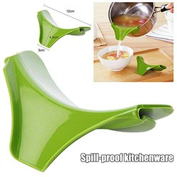 Practical Kitchenware Silicone Pour Soup Anti-Spill Deflector Soup Funnel Kitche