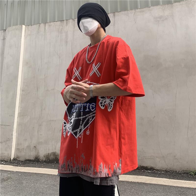 Streetwear Oversize Harajuku Butterfly Printed T-Shirt