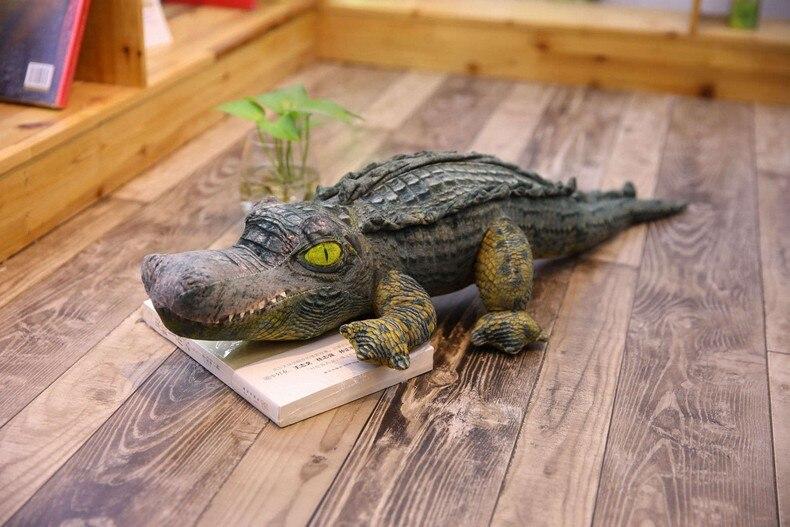 cute plush simulation crocodile toy stuffed close-mouth crocodile pillow birthday gift about 55cm