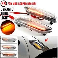 זורם מים נצנץ LED דינמי הפעל אות אור עבור מיני קופר R60 Countryman R61 Paceman צד סמן מהבהב מחוון