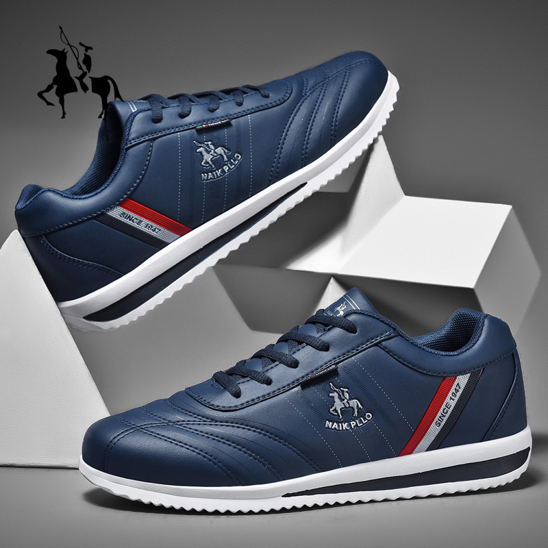 Golf Men's Professional Sports Shoes Non-slip Training Golf Sports Shoes Waterproof Leather Walking Shoes Black Blue Fitness 1