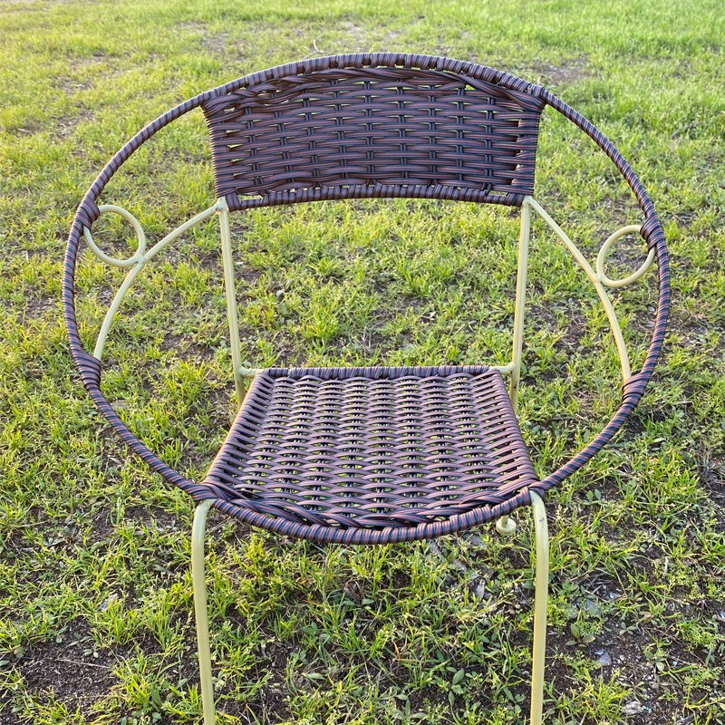 Rattan chair small rattan chair backrest outdoor children's chair woven small rattan stool to manage the marble carving center