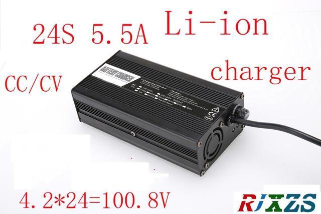 100.8 فولت 5.5A شاحن ل 24S يبو/ليثيوم بوليمر/بطارية ليثيوم أيون حزمة الشواحن الذكية دعم CC/CV وضع 4.2 فولت * 24 = 100.8 فولت