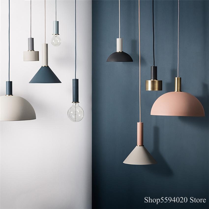 Nordic Modern Decorote Led Pendant Lights Art Colored Hanglamp Pendant Lamp Bedroom Lighting Luminaria Hanging Lamp Loft Decor