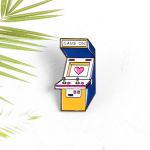 Game On ! Retro Arcade Console Enamel Pin Cartoon Game Badge Clothes Backpack Lapel Pins Custom Brooch Gift for Women Men