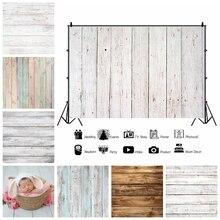 Фотофон Laeacco с текстурой белой деревянной доски, Виниловый фон для фотосъемки в честь рождения ребенка, фотосессия для фотостудии, Фотофон