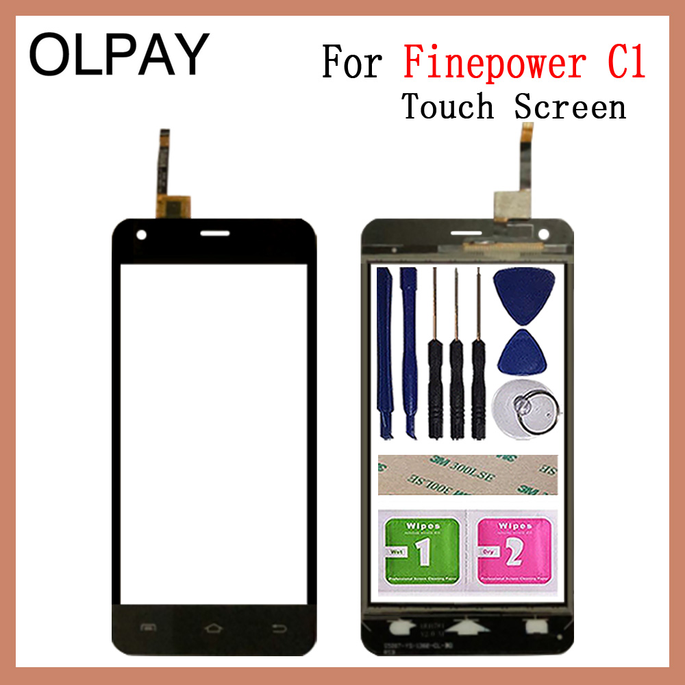 OLPYA 5.0 Inch Mobile Phone Touchscreen For Finepower C1 Touch Screen Glass Digitizer Panel Lens Sensor Glass Repair