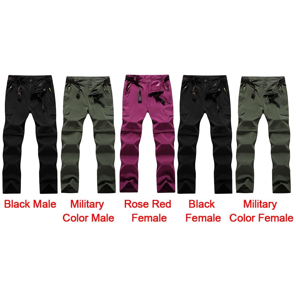 Rmine Outdoor Pantalones trockend Desmontable R/ápido Pantalones de Trekking Zip Off con Cintur/ón