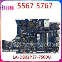 KEFU CN-0KFWK9 Für Dell Inspiron 5567 5767 Laptop Motherboard BAL20 LA-D801P I7-7500u R7 M440 Getestet 100% Arbeit DDR3 HM87 Intel