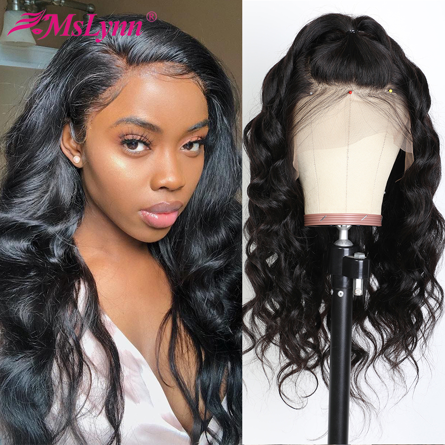 Body Wave Wig Lace Front Human Hair Wigs For Black Women Pre Plucked With Baby Hair T Part Wig Can Be Dyed Mslynn Brazilian Remy