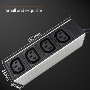 Image 5 - C13 Protection contre les surcharges industrielle 2M prise dextension 4 prise ca prise ue 16A 250V alliage daluminium PDU multiprise