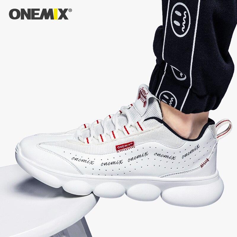 ONEMIX homme Portable Résistant À L'usure Chaussures De Badminton Antidérapant Amortissement Sportif Extérieur Boost Tennis Baskets Papa Chaussures