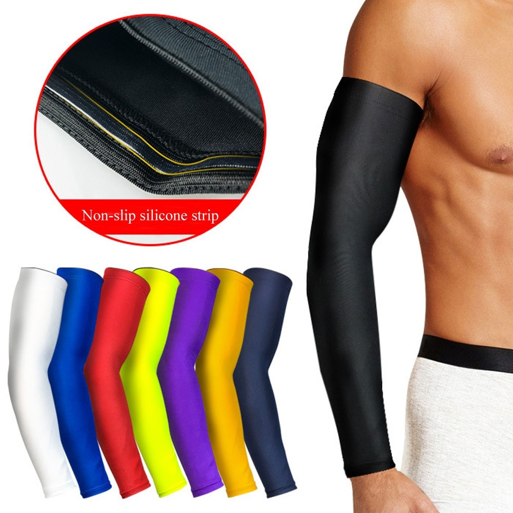 1Pcs Cooling Arm Sleeves Cover UV Sun Protection Armband Basketball Golf Athletic Sport Running Compression Sleeve