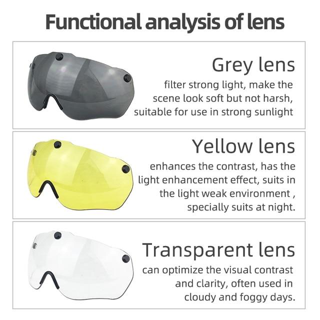 Gub k80 capacete de ciclismo com viseira óculos magnéticos integralmente-moldado 58-62cm para homens mulher mtb estrada bicicleta capacete 5