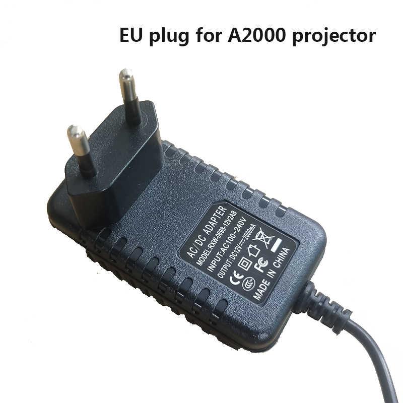 TRANSJEE Mini projecteur Portable alimentation 1000 lumens soutien 1080P carte SD USB LCD 50000 heures vie de la lampe