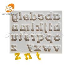 Padrão do alfabeto molde de silicone molde de bolo molde de chocolate bolo de decoração ferramenta de cozimento ferramenta de bolo