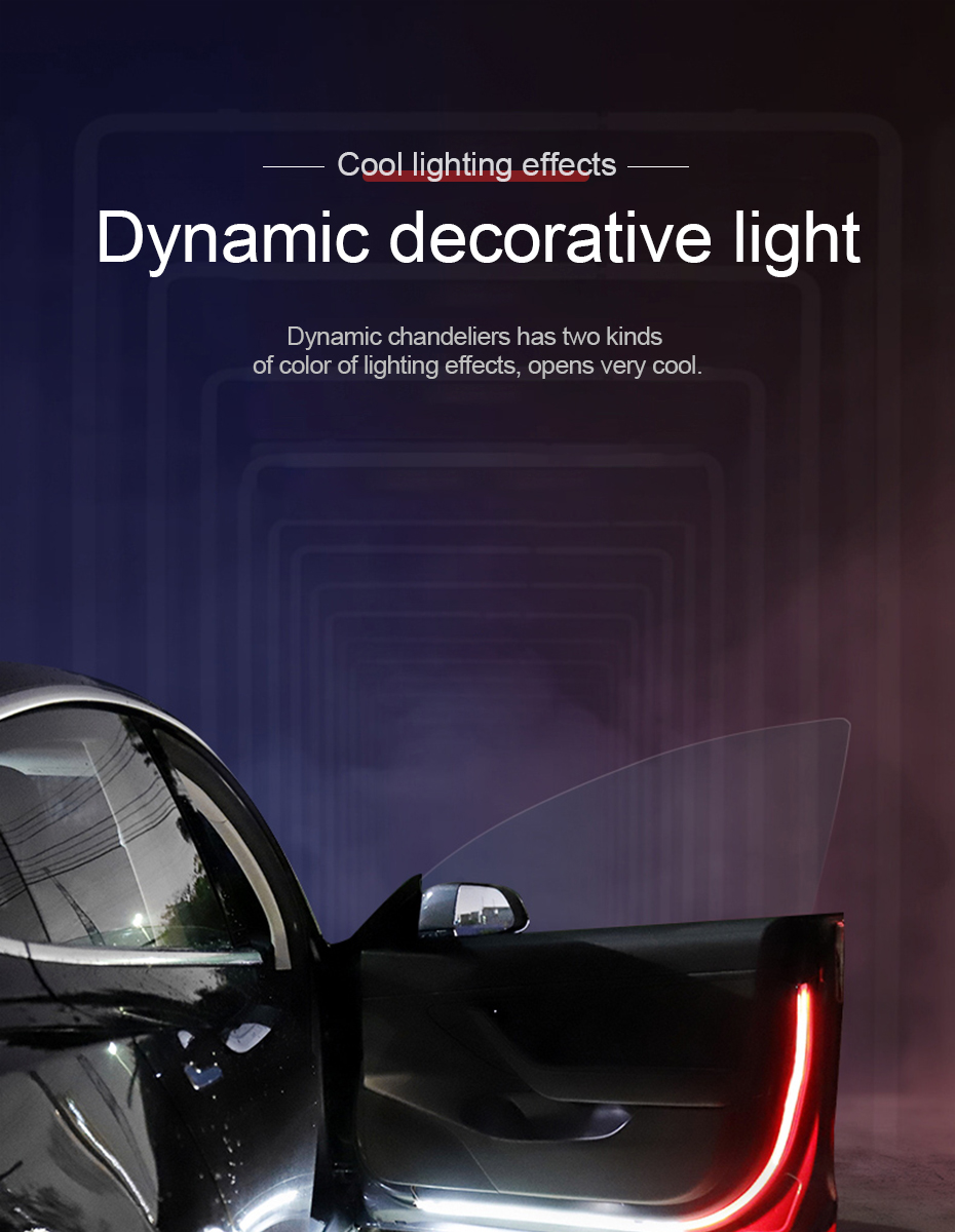 Car Door Stream Light Flash Warning Light Anti collision LED Strip Auto  Decoration Lamp Soft Parking Lamp All Cars Applicable|Decorative Lamp| -  AliExpress