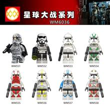 цена на WM6036 Single Sale Mimban Imperial Patrol Swamp Star Corps Imperial Red Clone Troopers Building Blocks Children Gifts Toys DIY