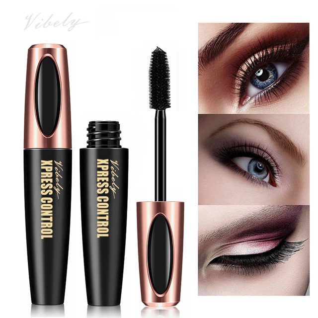4D mascara waterproof mascara makeup eyelashes thick curling 4D silk fiber mascara professional cosmetics