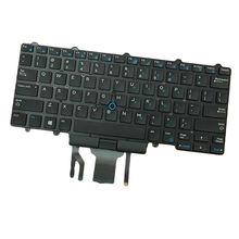 Черный, США раскладка Клавиатура для ноутбука Dell Latitude E5450 16031502186 0D19TR с подсветкой