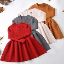2021 Winter Herbst Weihnachten Baby Mädchen Kleid Langarm Plaid Pullover Kleid Für Mädchen Geburtstag Kleid Neugeborene Kleidung 3 12 24 M