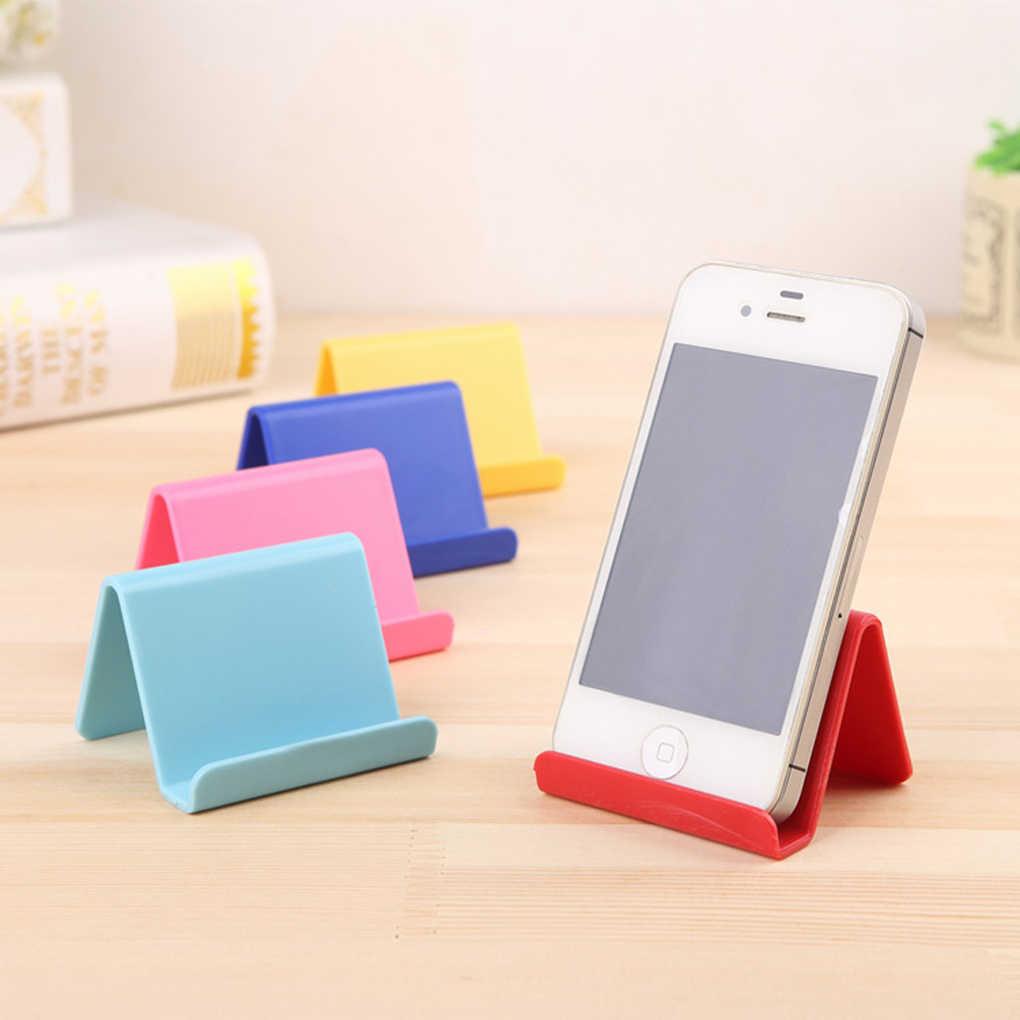 Terbaru Universal Plastik Ponsel Pemegang Berdiri Dasar untuk iPhone 7 8 X untuk Samsung untuk Xiaomi Smartphone Permen Ponsel bracket