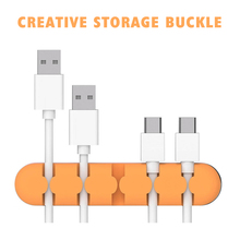 Creative Data Cable Storage Winder Buckle Protection Rope Card Winder Headset Power Desktop Cable Manager