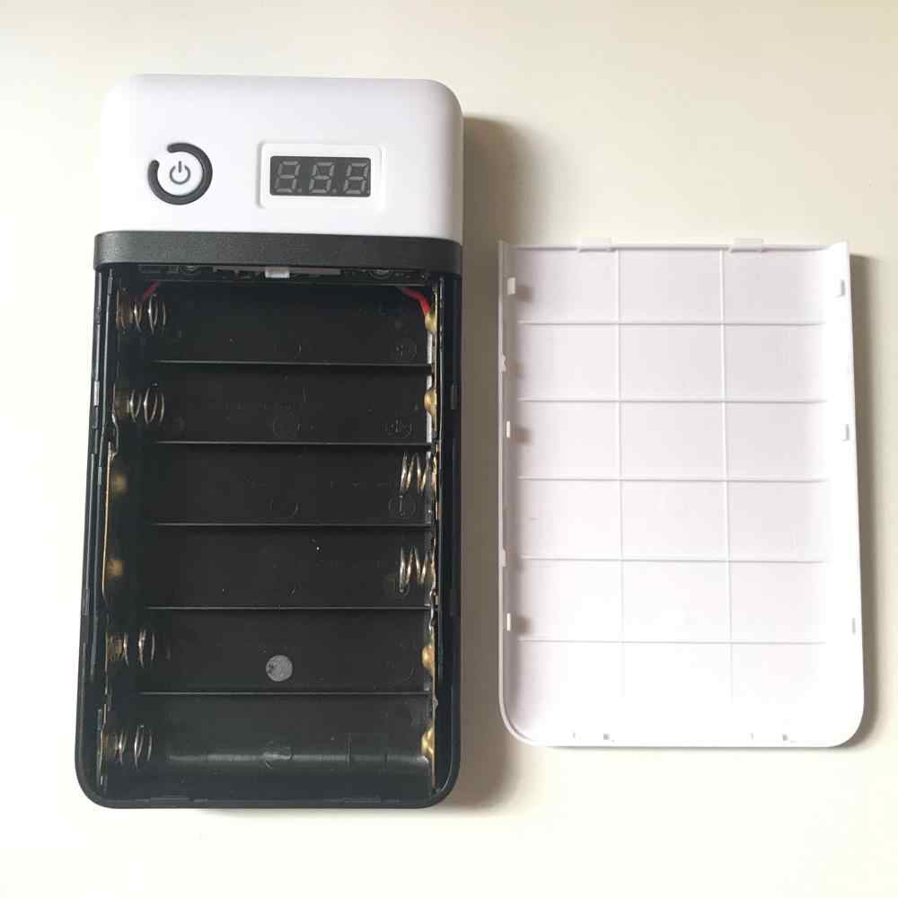 3.6 v 5 v 6 v 9 v 12 v 15 v 16 v 19 v 21 v 出力携帯ノートブックパワーバンクボックス 18650 バッテリーケースセクション 6 ユニバーサル宝に diy