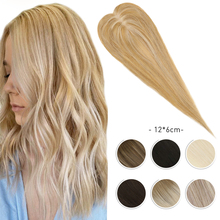 Hair-Topper Toupee Human-Hair Women Moresoo for 12--6cm 8-16inches Remy Straight