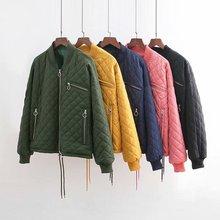 Mooirue  2019 Autumn Winter Formal coat women long sleeve zipper Harajuku diamond shape streetwear solid casual jackets