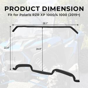 Image 3 - Cam Polaris RZR XP 1000 / XP 4 1000 2019   2020 UTV tam ekran cam ön cam ağır hizmet tipi şeffaf çizilmez
