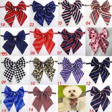 Corbatas ajustables coloridas hechas a mano para perro grandes lazo grande, lazos para mascotas, corbatas para gatos, SUMINISTROS DE ASEO para perros L8, 100 Uds. Por lote