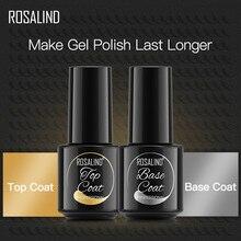 Coat-Set Top-Base Uv-Gel-Nail-Polish Nail-Art-Design Semi-Permanent ROSALIND for Soak-Off