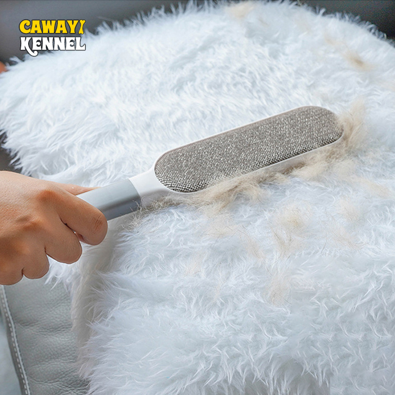 Dog Comb Tool Pet Hair Brush Dog Cat Fur Brush Base Double-Side Home Furniture Sofa Clothes Cleaning Lint Brush D1754