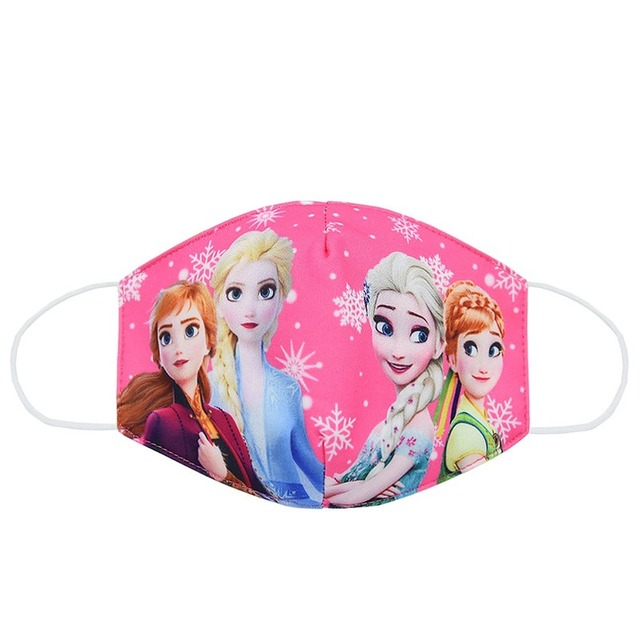 2020 New CartoonDisney Frozen Dust Washable Masks Breath Anti-Dust Pollution Face Mouth Mask Breathable For Children Kid Adult 1