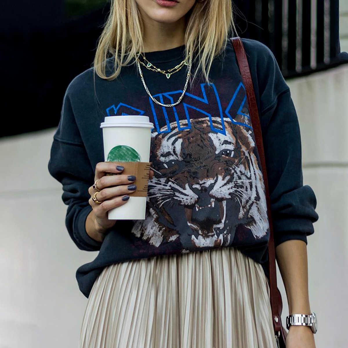 Womens 100/% Cotton Long Sleeve Slim and regular Fit Shirt Tiger Hearts Print