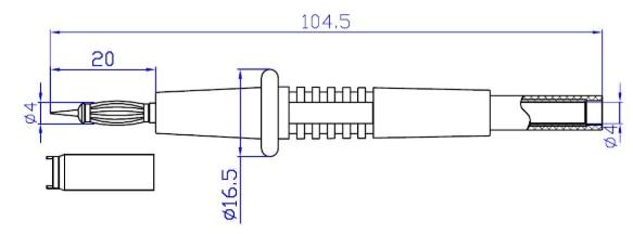 4mm穿刺型万用表探针