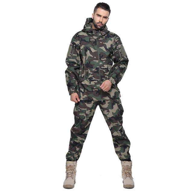 Garnitur wojskowy dorosły mężczyzna mundur wojskowy Airforce pustynia dżungla odkryty polowanie kostiumy ACU Camo kamuflaż kurtka wojskowa + spodnie
