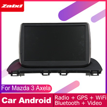 цена на ZaiXi android car dvd gps multimedia player For Mazda 3 Axela 2013~2018 car dvd navigation radio video audio player Navi Map
