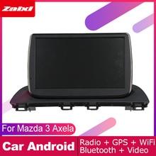 ZaiXi android car dvd gps multimedia player For Mazda 3 Axela 2013~2018 car dvd navigation radio video audio player Navi Map недорого